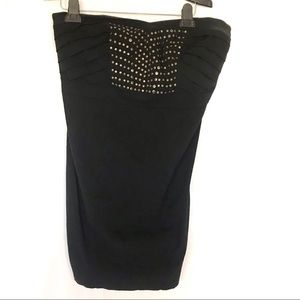 torrid Dresses - Torrid black strapless dress with stud detail